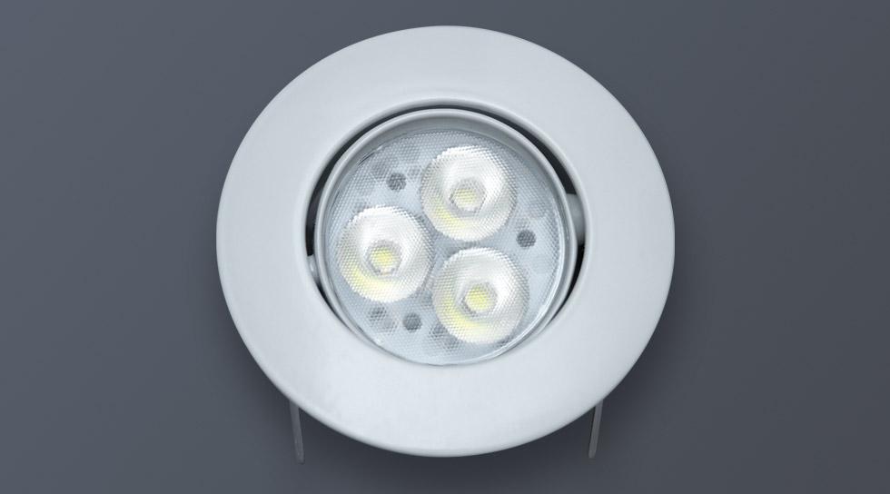 LED Einbauspot Aussenlicht rund weiss 100mm