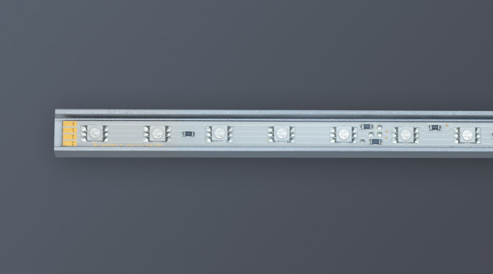 led lichtleiste 24v rgb ip20 atesco. Black Bedroom Furniture Sets. Home Design Ideas