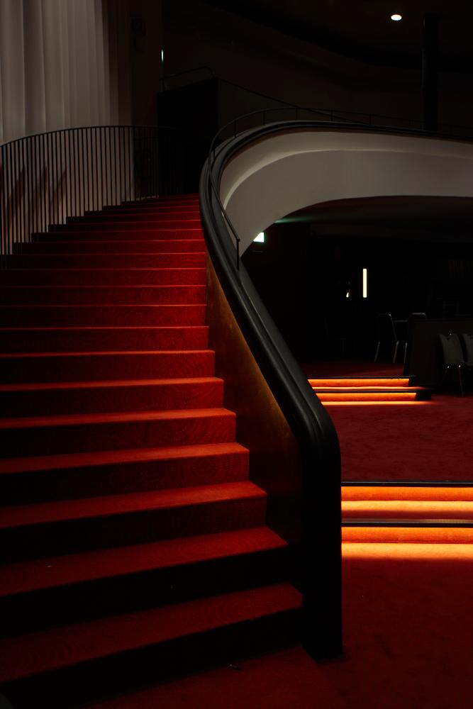 Kursaal Bern Handlauf LED Beleuchtung