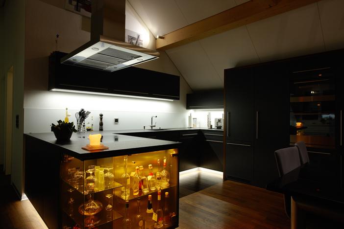 beleuchtung wohnküche